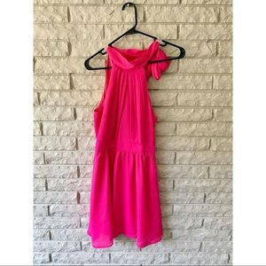 Hot Pink Party Dress with Bow